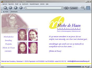 Site Mieke de Haan - bestaat niet meer - ontwerp Wim van Broekhoven