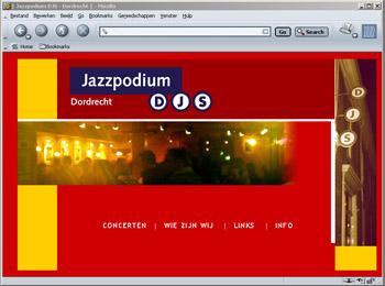 Site Jazzpodium DJS - jazzpodiumdjs.nl - deels veranderd