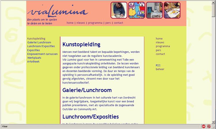 website vialumina.nl - niet meer actueel