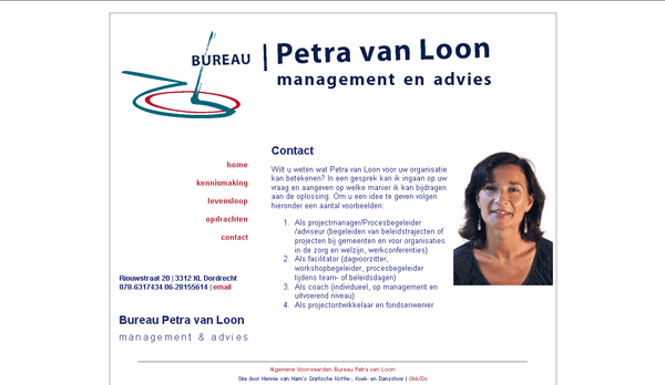 website Bureau Petra van Loon - bpvl.nl