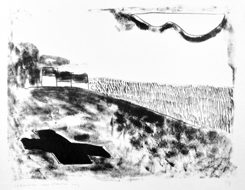 Airport Le Theix - lithografie 2009