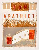 Bom Apathiet - lithografie 1992 - 64 x 48 cm