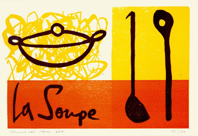 Koppermaandag 2010%3A La Soupe - Linosnede