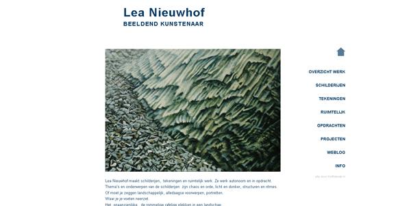 Website Lea Nieuwhof 2010