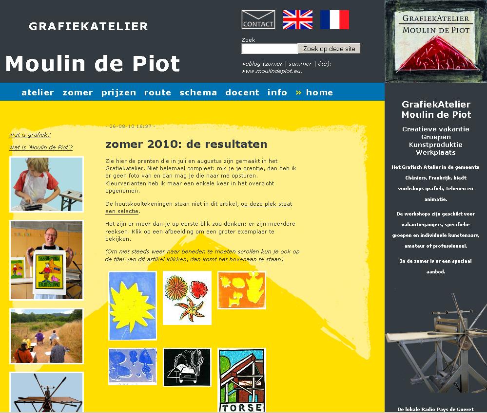 Grafiekatelier - Moulin de Piot