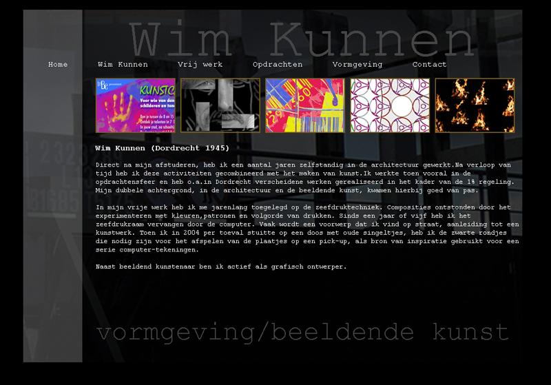 website Wim Kunnen