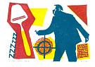 linosnede koppermaandagprent 2013 (A5)