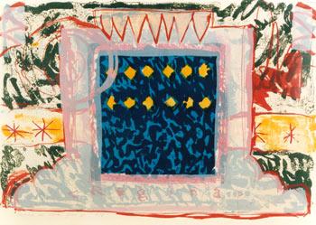 Regina - lithografie - 96 x 64 cm