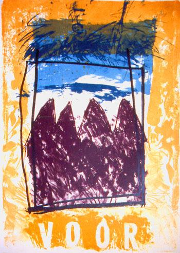 Voor - lithografie - 96 x 64 cm