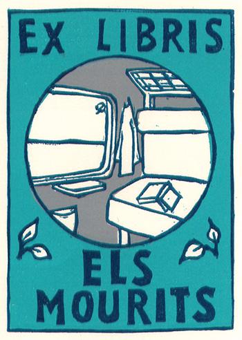 Ex Libris Els Mourits - hoogdruk