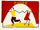 Dansen (uitnodiging/opdracht) - hoogdruk