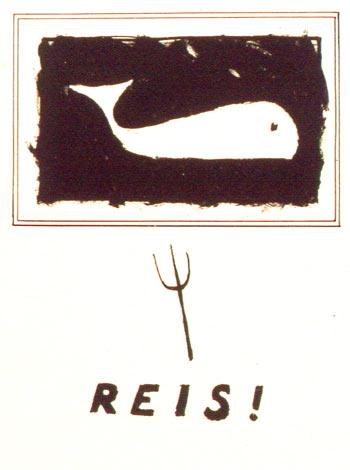 Reis! (walvis) - lithografie