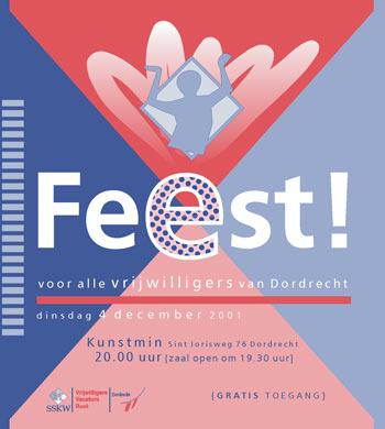 Vrijwilligersdag Drechtsteden 2001 - affiche