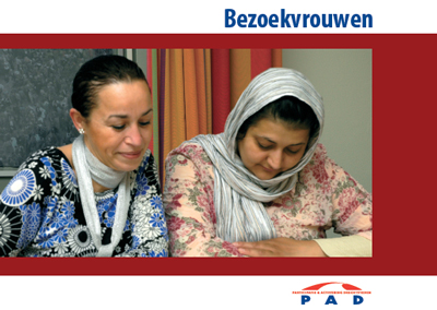 Voorzijde folder Bezoekvrouwen - PAD Dordrecht